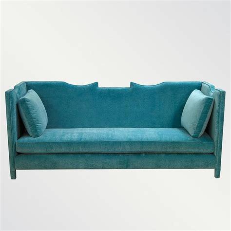 turquoise velvet sofa greer sofa vielle and frances