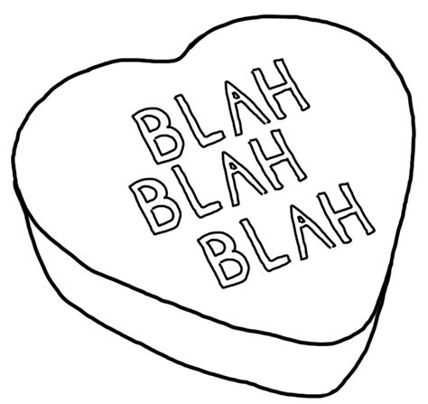 conversation heart coloring page conversation hearts coloring pages