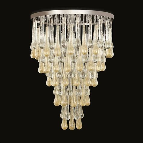 Murano Glass Chandelier Italy Italian Modern Murano Glass Chandelier Or Flush Mount For Sale At 1stdibs
