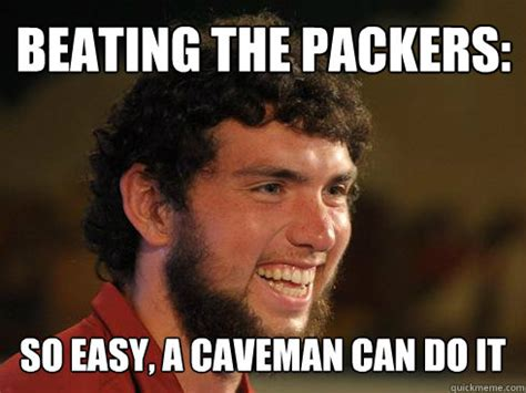 Andrew Luck Memes - so easy a caveman can do it memes