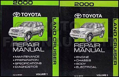 vehicle repair manual 2000 toyota land cruiser navigation system 2000 toyota land cruiser repair shop manual original set