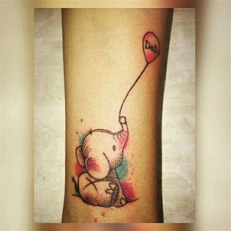 elephant journal tattoo baby elephant holding balloon tattoo ideas pinterest