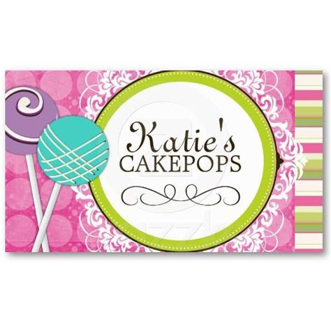 cake pop business card template 17 best images about cake pop business cards on