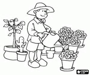 Nature Jobs Coloring Pages Printable Games 2 sketch template