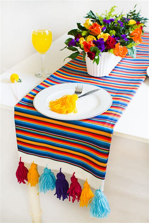 Guest Post Mexican Inspired Diy Table Runner Zazzle Blog Mexican Table Runners