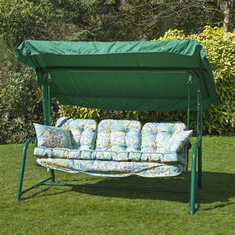 replacement garden swing cushions garden 3 seater replacement swing seat hammock cushion set