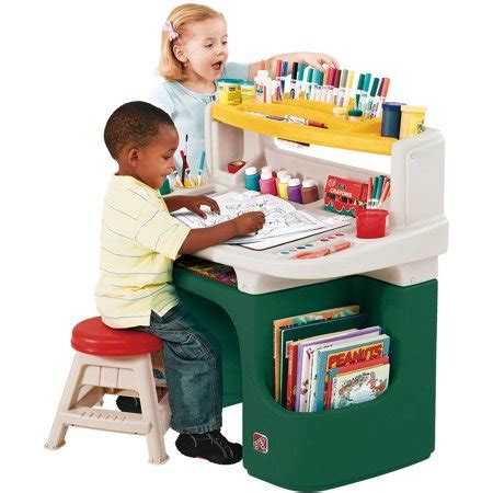 Step2 Master Desk And Stool by Step2 Master Desk Includes A Sturdy 11 Inch Stool