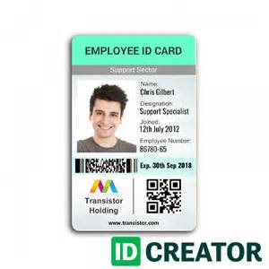 id card template vertical employee id card ships same day