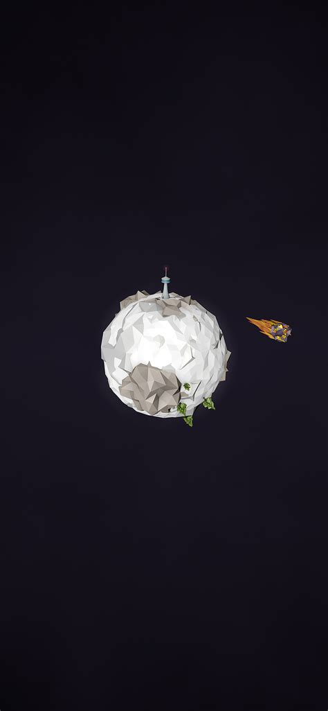 aj polygon planet cute minimal simple art dark papersco