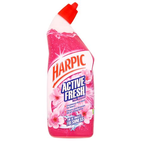 Cleaner Pink harpic active fresh toilet cleaner 750ml pink blossom