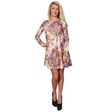 swing clothing uk cream floral swing dress from parisia