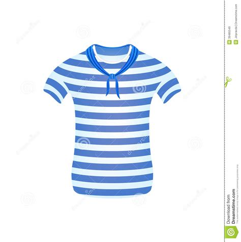 Blue Stripe Scarf Shirt L Xl 17372 striped sailor t shirt with blue scarf stock vector