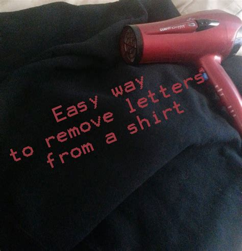 Hair Dryer Sticker Removal removing letters from a shirt how you can use a hair
