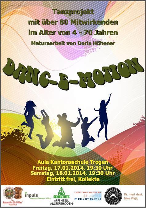 Mit Freundlichen Grüssen Zürich Tanzprojekt Danc E Motion