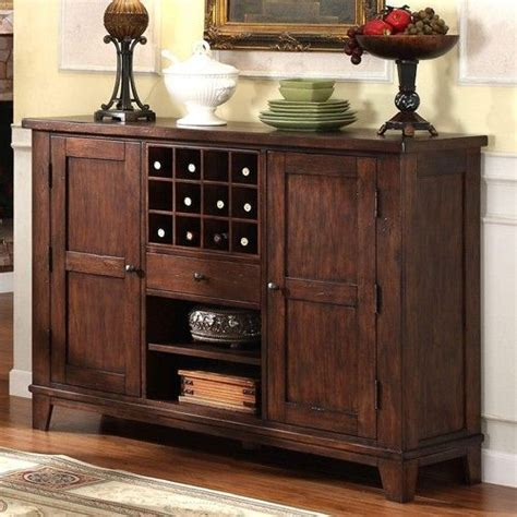 buffet cabinet hutch dining kitchen server furniture wine castlewood dining server style buffet with wine storage by