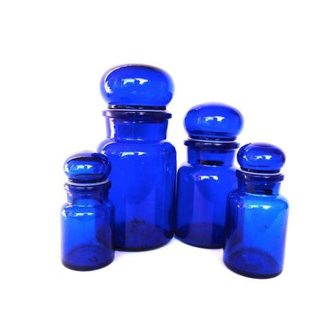 glass kitchen canister cobalt blue glass cobalt blue glass jars glass canisters