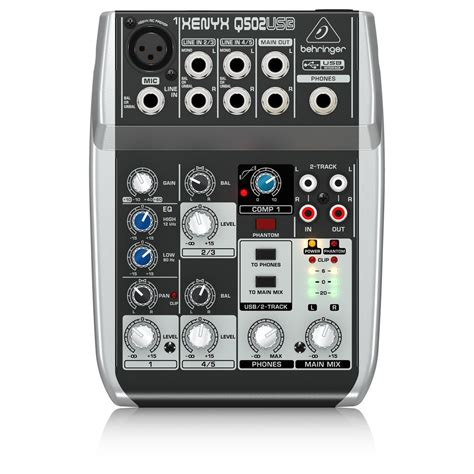 Mixer Usb behringer xenyx q502usb usb mixer at gear4music