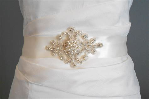 bridal sash beaded sash wedding dress sash by
