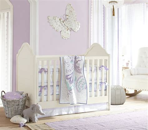 Butterfly Nursery Bedding Set Mallory Butterfly Nursery Bedding Set Pottery Barn