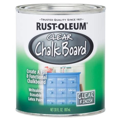 rust oleum specialty 30 oz clear chalkboard paint of 2 284469 the home depot