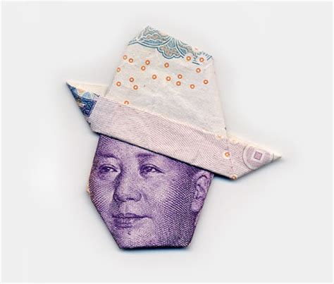 Money Hat Origami - money portraits