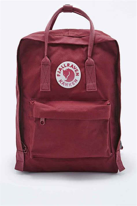 Fjallraven Kanken Classic Oxred Royal Blue Backpack Tas fjallraven kanken classic backpack in ox in purple maroon lyst