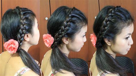 chain braid headband hairstyle for medium long hair tutorial lace braid headband hairstyle for medium long hair