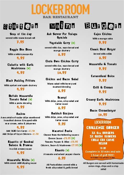 locker room menu menu s gamola golf locker room golf