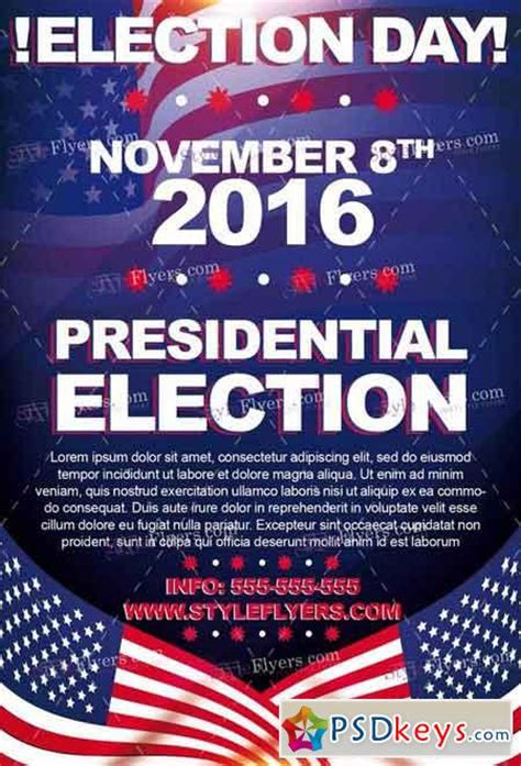 election day psd flyer template facebook cover 187 free