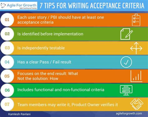 agile acceptance criteria template 7 tips for writing acceptance criteria with exles