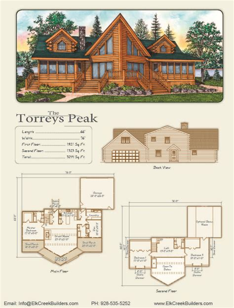 elk creek builders home floor plans cabin floor plans