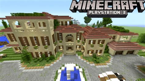 Mansion Floorplans by Minecraft Ps3 Huge Mansion Compound Pools Garden