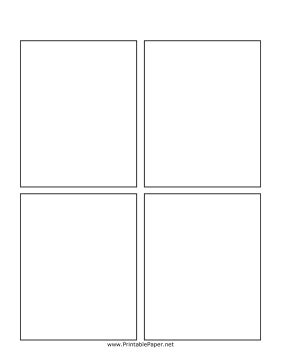 Printable Blank Comic Book Page Comic Template Maker