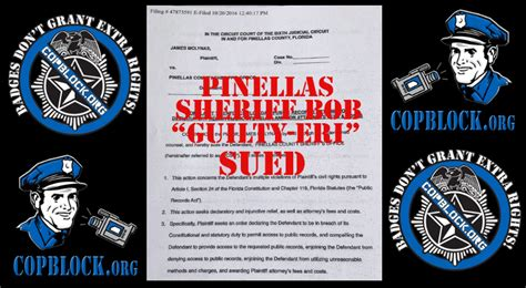 Pinellas County Sheriff Records Opposing Candidate S Lawsuit Pinellas County Sheriff Robert Gualtieri Hiding