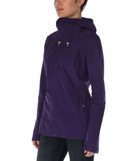 bench juncture hooded shell jacket in purple dark purple