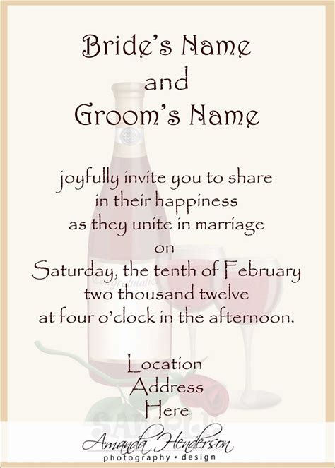 Template For Wedding Card From To Groom by Wedding Invitation Templates Wedding Invitation Wording