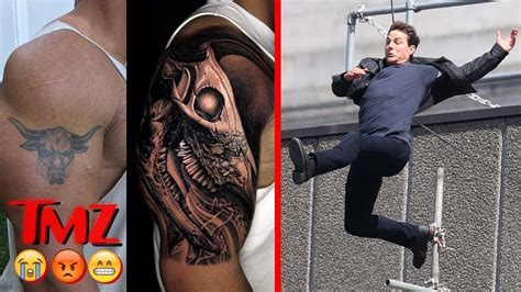 the rock s tattoo the is going for the rock s new and