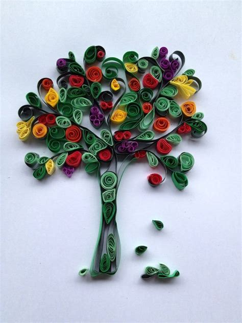 paper quilling tree tutorial tree of life quilling by romeysgallery on etsy 49 00