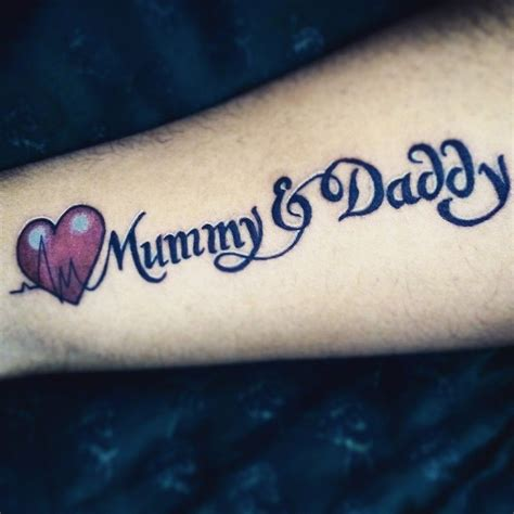 tattoo fonts karan text devoted to parents with text mummy