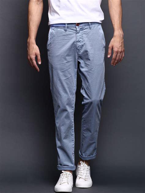 light blue chinos mens myntra wrogn men light blue slim fit overdyed super soft