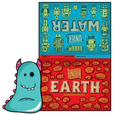 under earth activity book book monsters