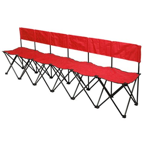 sports bench seating bag a bench 6 seat portable sideline soccer bench