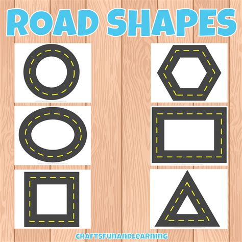 printable road free printable road shapes craftsfunandlearning