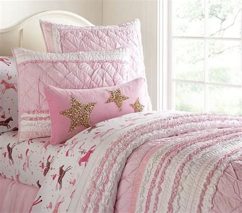 pottery barn kids comforter brigette ruffle quilted bedding pottery barn kids