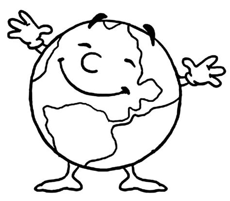 earth cartoon coloring pages color earth clipart best
