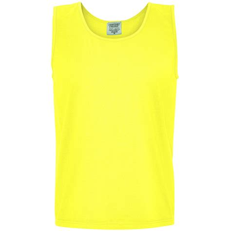 neon blue comfort colors comfort colors 9360 garment dyed heavyweight ringspun tank top neon yellow fullsource com