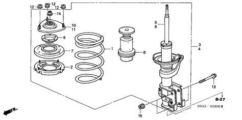 shock absorber diagram 51602 s9a a35 genuine honda shock absorber assy l fr