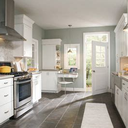 How Paint Kitchen Cabinets White Love The Grey Tile With Grey Paint And White Cabinets
