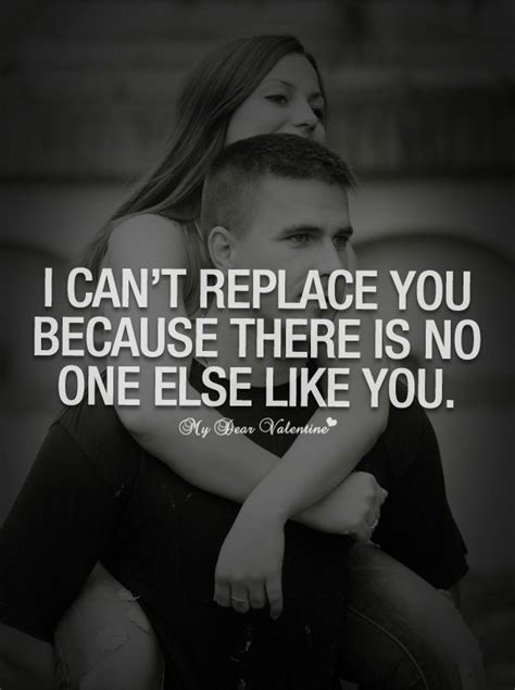 Because No One Likes Looking At by I Can T Replace You Because There Is No One Else Like You