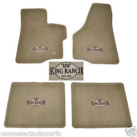 Ford King Ranch Floor Mats by Oem New 2011 2012 Ford F 250 F 350 Crew Cab King Ranch